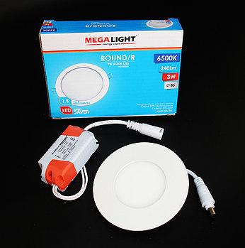 Светильник LED Спот встр. ROUND/R  3w  (MegaLight)