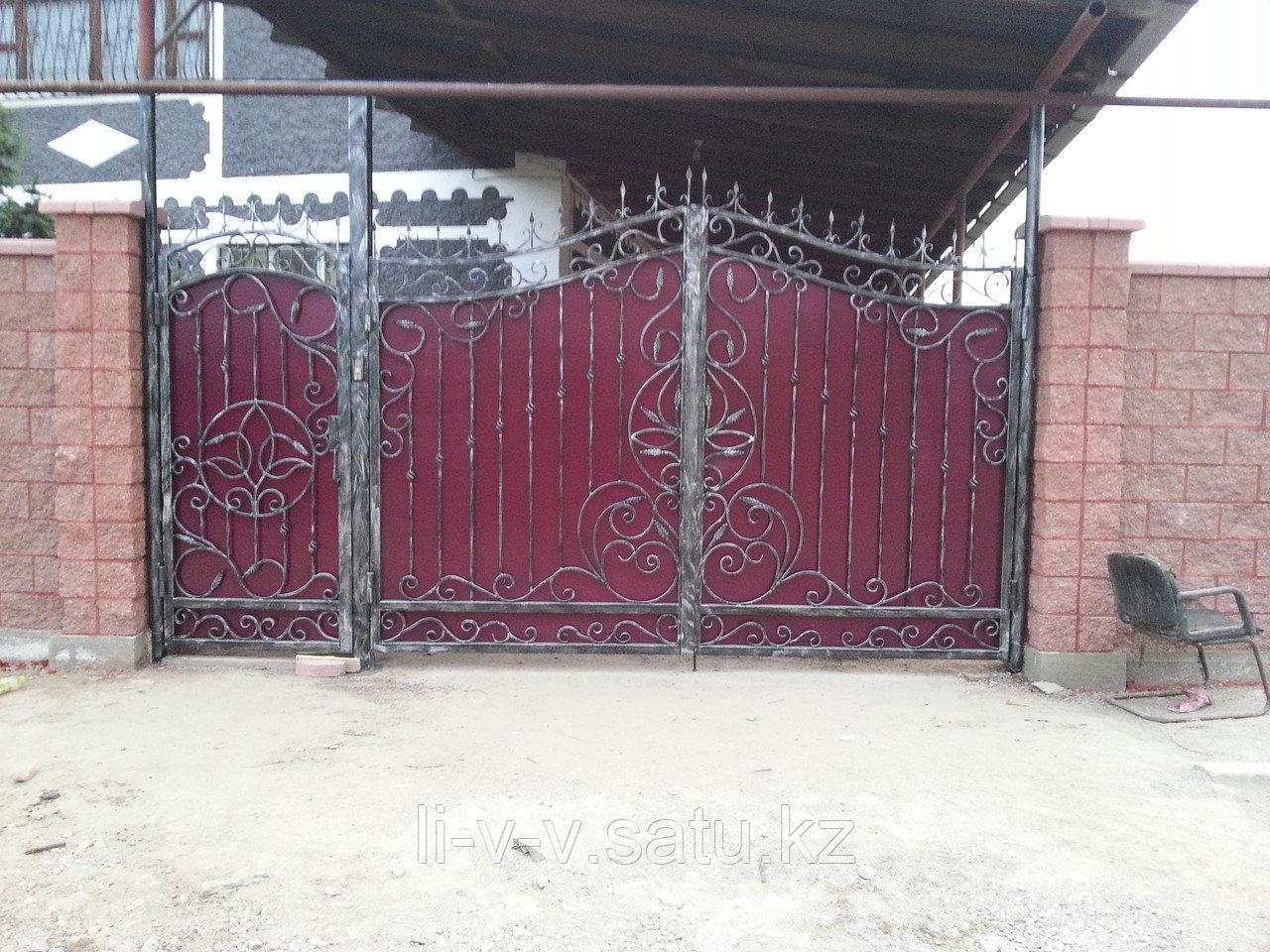 Ворота кованые + калитка