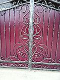 Ворота кованые + калитка, фото 3