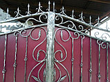 Ворота кованые + калитка, фото 4