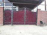 Ворота кованые + калитка, фото 5