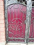 Металлические кованые ворота, фото 2