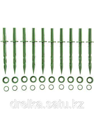 Колышки садовые GRINDA 200мм, цвет зеленый, 10шт , фото 2
