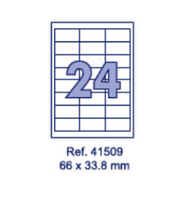 Наклейки А4, 66х33,8мм, 24/лист, 100 листов