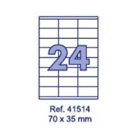 Наклейки А4, 70х35мм, 24/лист, 100 листов