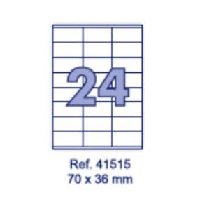 Наклейки А4, 70х36мм, 24/лист, 100 листов