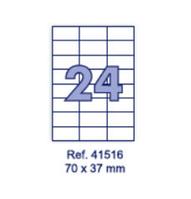 Наклейки А4, 70х37мм, 24/лист, 100 листов