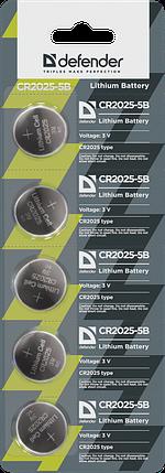 Элемент питания Defender CR2025 - 5 штук в блистере, фото 2
