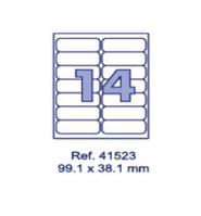 Наклейки А4, 99,1х38,1мм, 14/лист, 100 листов