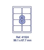 Наклейки А4, 99,1х67,7мм, 8/лист, 100 листов