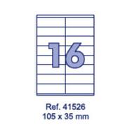 Наклейки А4, 105х35мм, 16/лист, 100 листов