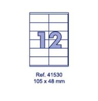 Наклейки А4, 105х48мм, 12/лист, 100 листов