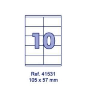 Наклейки А4, 105х57мм, 10/лист, 100 листов