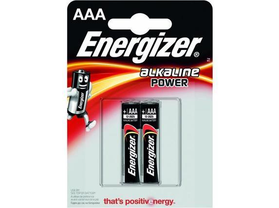 Элемент питания LR03 AAA Energizer POWER Alkaline 2 штуки в блистере, фото 2