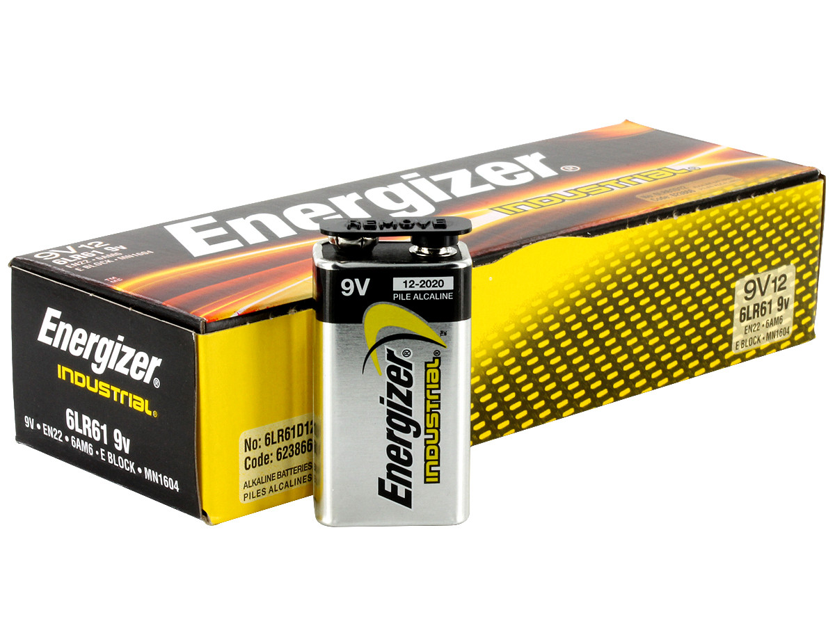 Элемент питания EN 22 9V Energizer Industrial /box 12