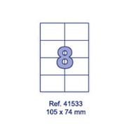 Наклейки А4, 105х74мм, 8/лист, 100 листов