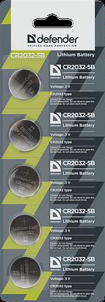 Элемент питания Defender CR2032 - 5 штук в блистере, фото 2