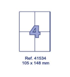 Наклейки А4, 105х148мм, 4/лист, 100 листов