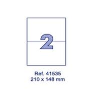 Наклейки А4, 210х148мм, 2/лист, 100 листов