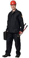 Костюм огнестойкий х/б: куртка, брюки (молескин) чёрный