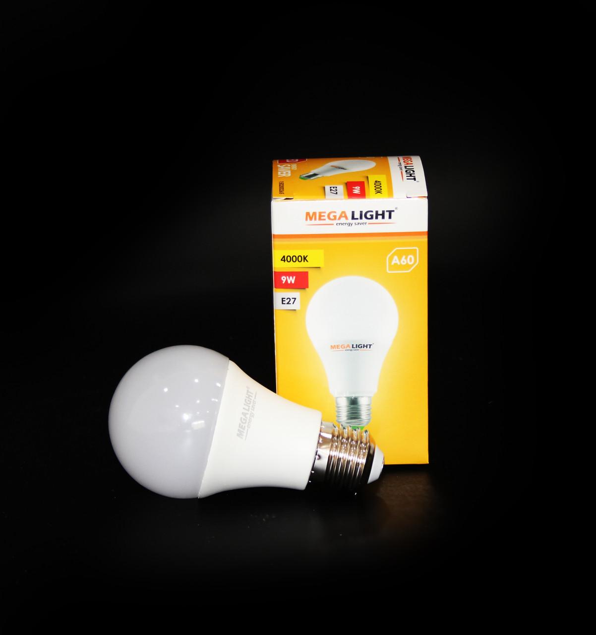 "Лампа LED A60 ""Standart""  9w (MegaLight)"