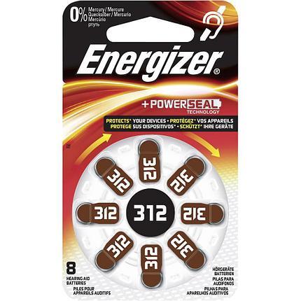 Элемент питания Energizer  Zinc Air 312 -8 штук в упаковке, фото 2