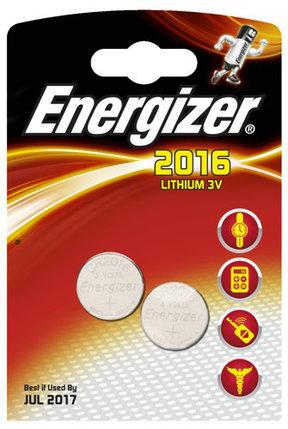 Элемент питания Energizer CR2016 -2 штуки в блистере, фото 2