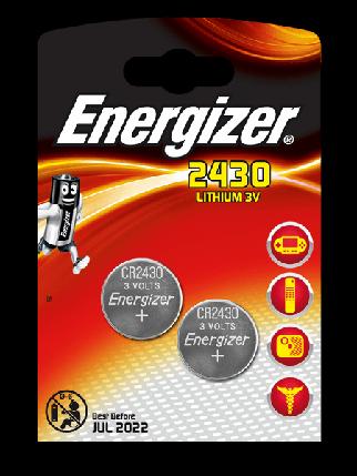 Элемент питания Energizer CR2430 -2 штуки в блистере, фото 2