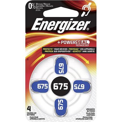 Элемент питания Energizer  Zinc Air 675 -4 штуки в упаковке, фото 2