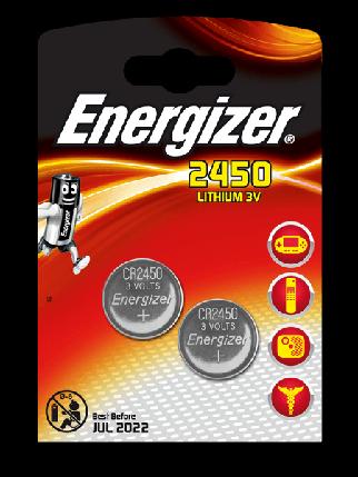 Элемент питания Energizer CR2450 -2 штуки в блистере, фото 2