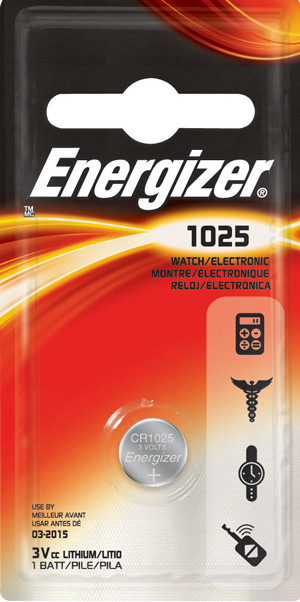 Элемент питания Energizer CR1025 -1 штука в блистере