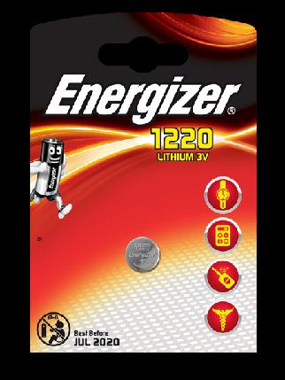 Элемент питания Energizer CR1220 -1 штука в блистере, фото 2