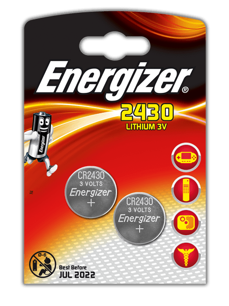 Элемент питания Energizer CR2430 -2 штуки в блистере