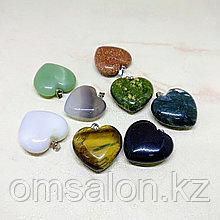 Кулон Сердце из натурального камня