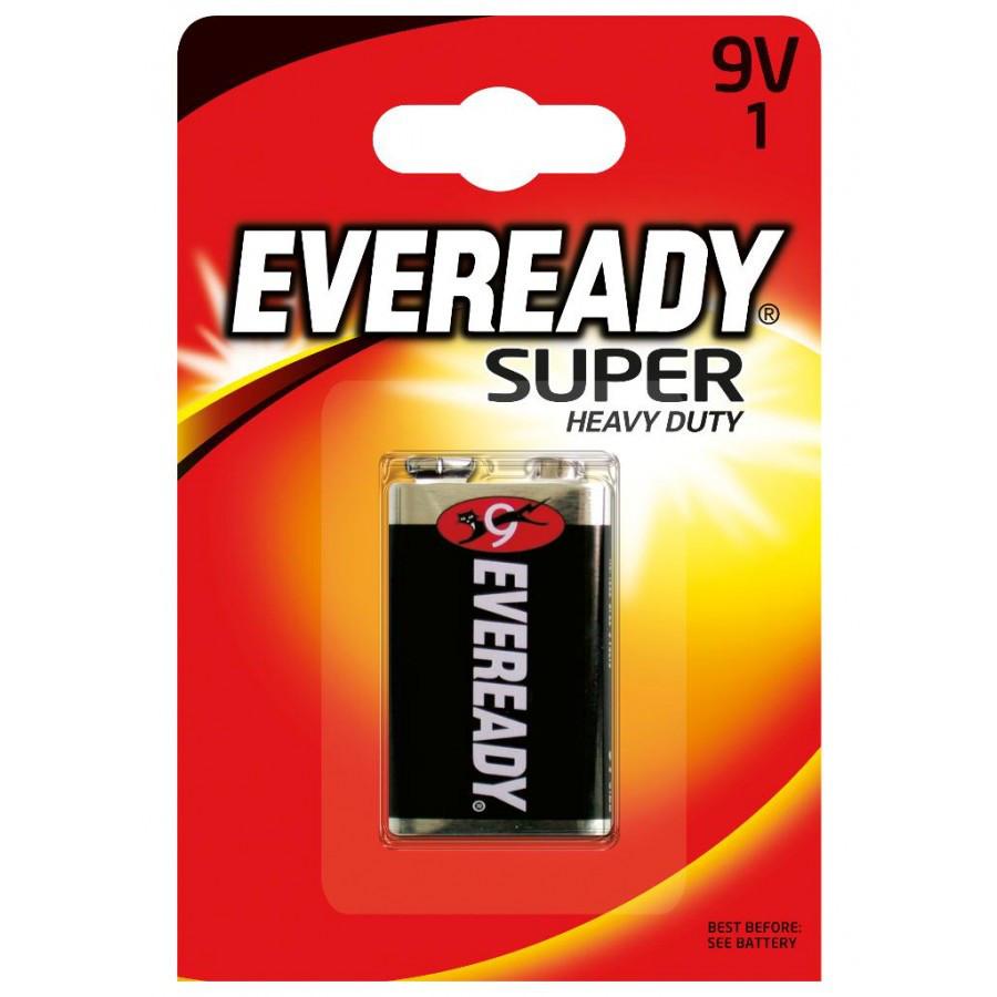 Элемент питания 6F22 9V Everedy SHD солевая 1 штуки в блистере