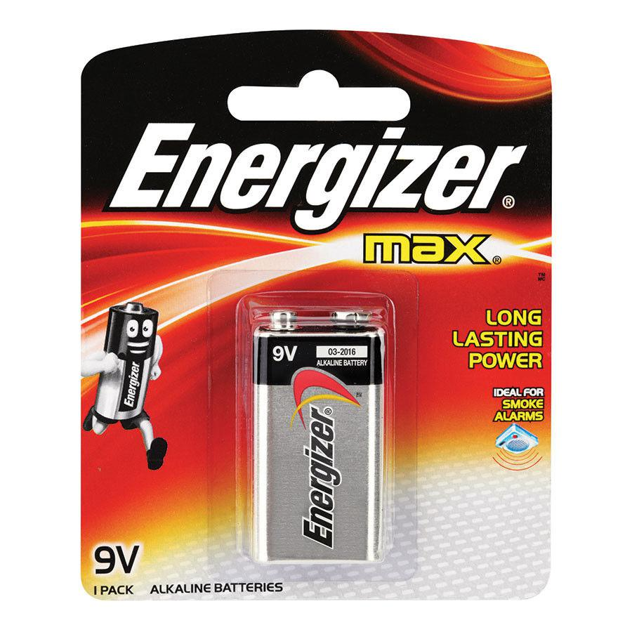 Элемент питания 6LR61 9V Energizer MAX  Alkaline 1 штуки в блистере