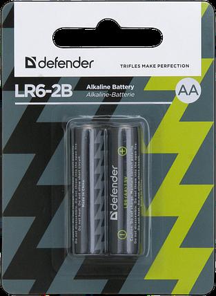 Элемент питания LR6 AA Defender Alkaline LR6-2B - 2 штуки в блистере, фото 2