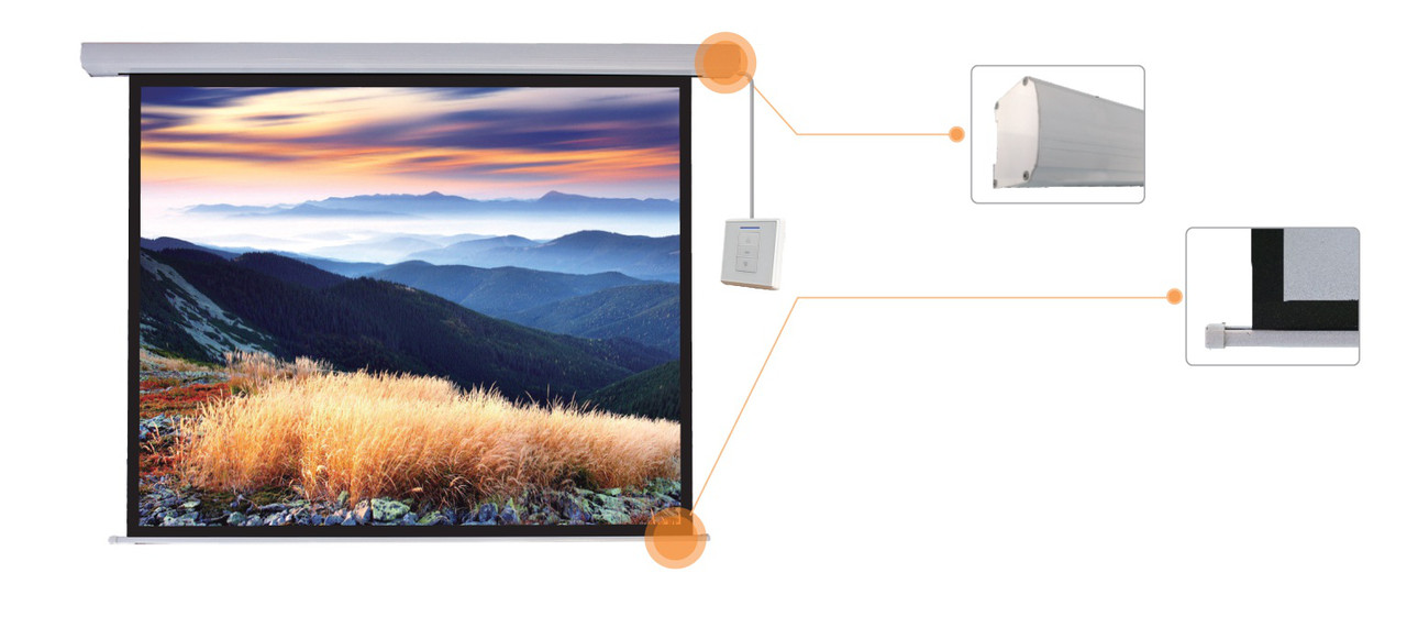 "Экран моторизированный Mr.Pixel 180"" X 240"" (4,57 X 6,10)"