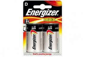 Элемент питания LR20 D Energizer MAX  Alkaline 2 штуки в блистере
