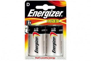 Элемент питания LR20 D Energizer MAX  Alkaline 2 штуки в блистере, фото 2