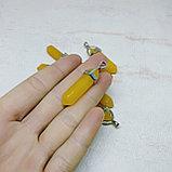 Маятник биолокационный из жёлтого агата, фото 2