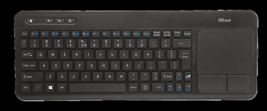 Клавиатура беспроводная Trust Veza Wireless Touchpad Keyboard RU, фото 2