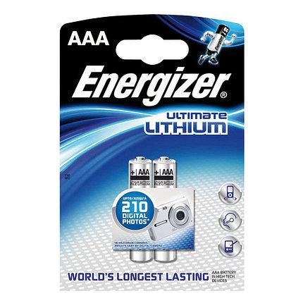 Элемент питания FR03 AAA Energizer LITIUM  2 штуки в блистере, фото 2