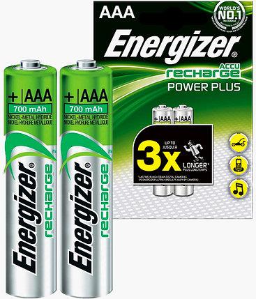 Аккумуляторы Energizer NiMH AAA 700mAh 2 штуки в блистере, фото 2