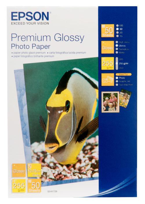 Фотобумага 10х15 Epson C13S041729 50 Л. 250 Г/М2 Premium Glossy Paper