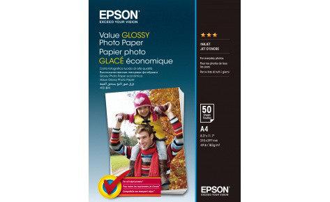 Фотобумага A4 Epson C13S400036  Value Glossy Photo Paper A4 50 sheet, фото 2