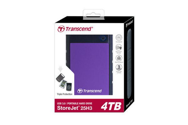 Внешний жесткий диск 2.5 4TB Transcend TS4TSJ25H3P, фото 2