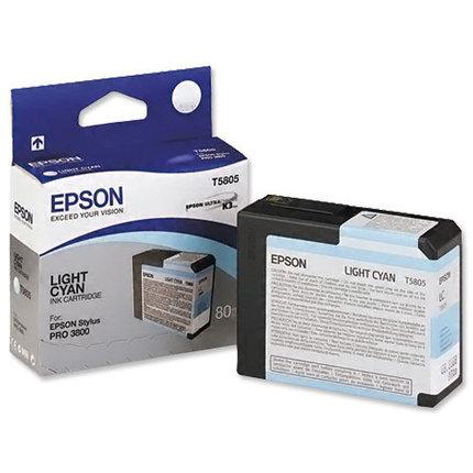 Картридж Epson C13T580500 STYLUS PRO 3800 светло-голубой, фото 2