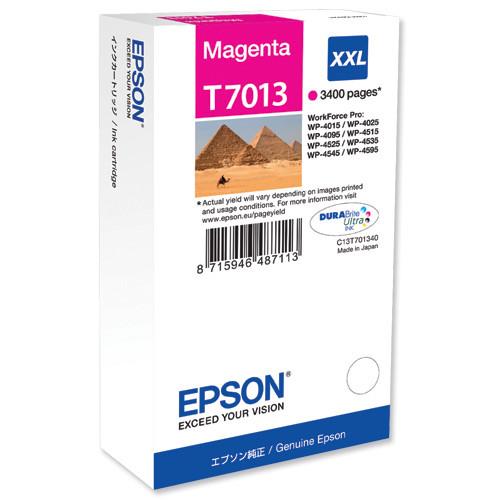 Картридж Epson C13T70134010 WP 4000/4500 SERIES XXL/пурпурный