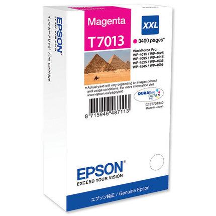 Картридж Epson C13T70134010 WP 4000/4500 SERIES XXL/пурпурный, фото 2